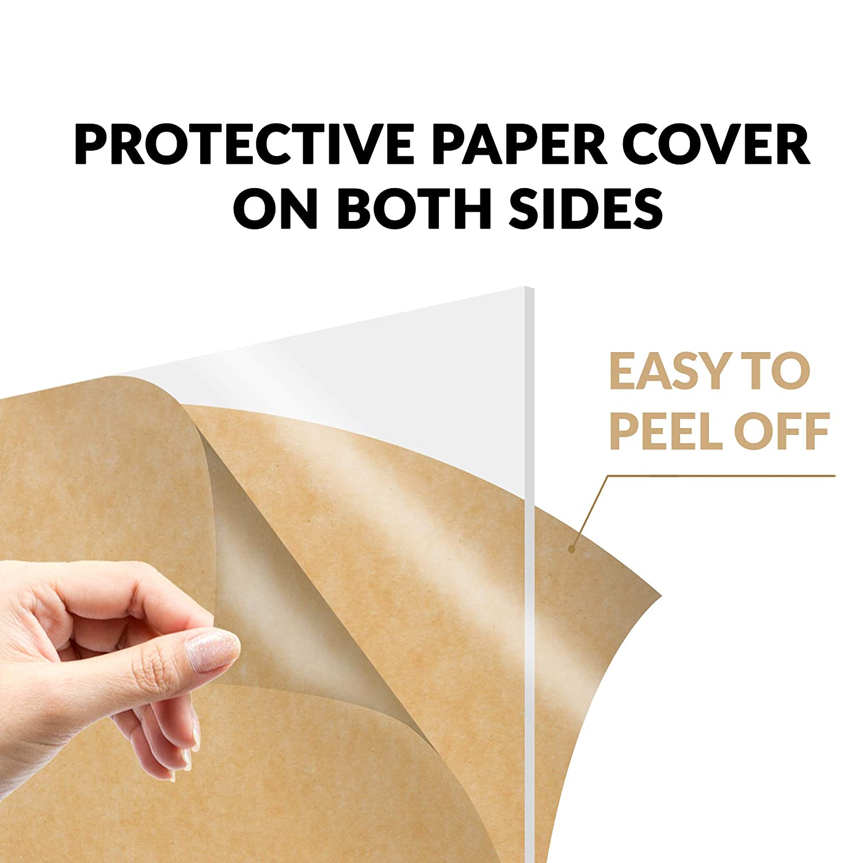 Amazon.com: Hoja de acrílico transparente de plexiglás de ...