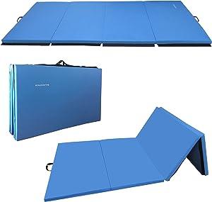 BalanceFrom GoGym All-Purpose 4'x10'x2 Extra Thick High Density Anti-Tear Gymnastics Gym Folding Exercise Aerobics Mats
