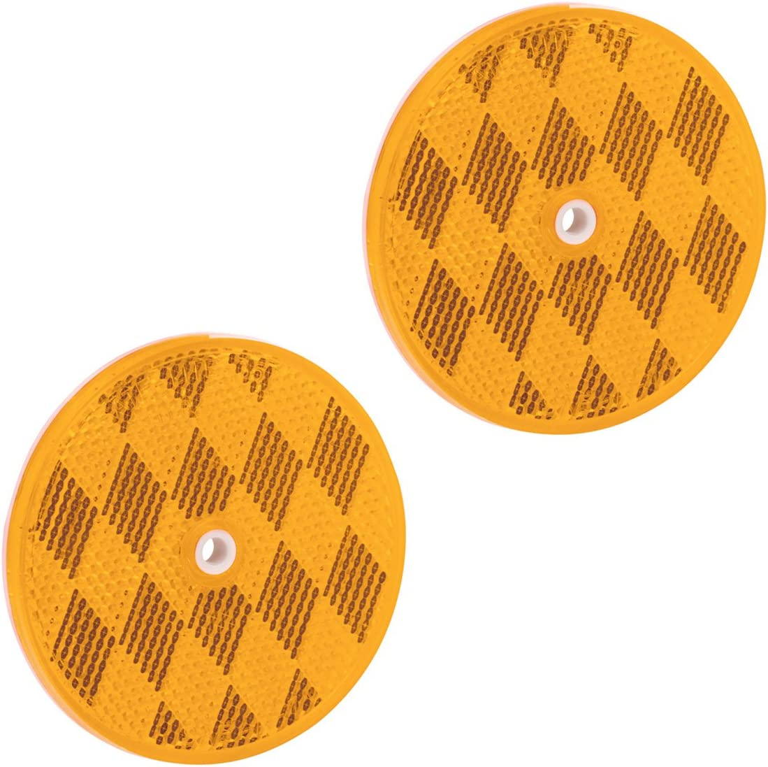 Bargman 74-71-170 Class A 2-3//16 Round Red Reflector with Center Mounting Hole 2 Pack