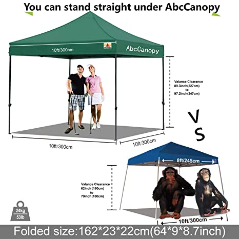 Amazon.com : ABCCANOPY 30+Colors Pop up Canopy Folding Heavy Duty Commercial Instant Canopy, Bonus Carrying Bag, Forest Green : Garden & Outdoor
