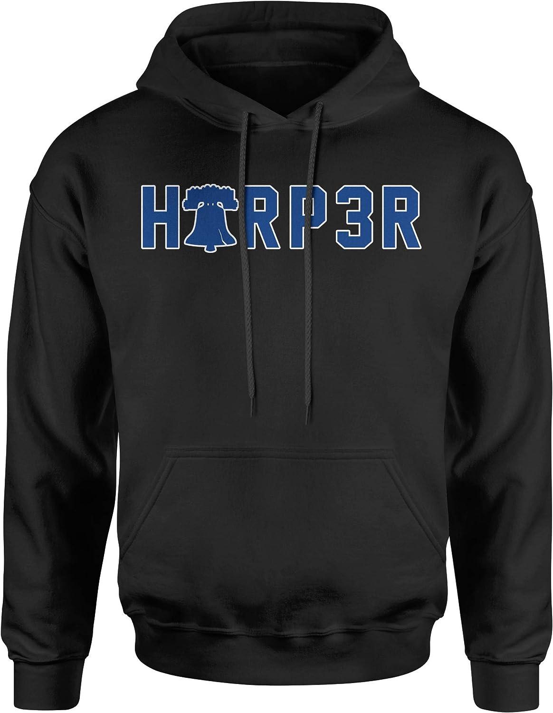 FerociTees Harper 3 Philly Baseball Bell Unisex Adult Hoodie