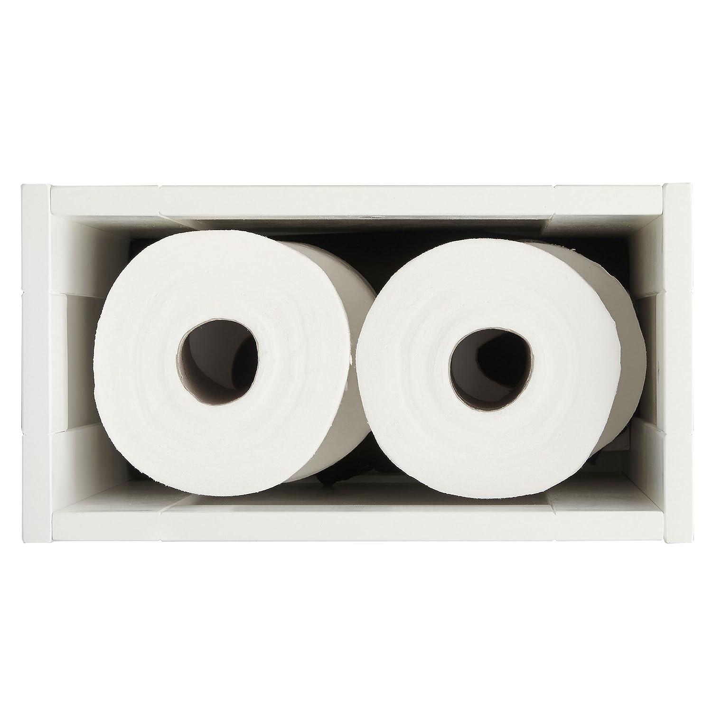 VonHaus Cesto de almacenaje para el ba/ño estilo colonial Mueble para guardar papel de ba/ño y productos de limpieza