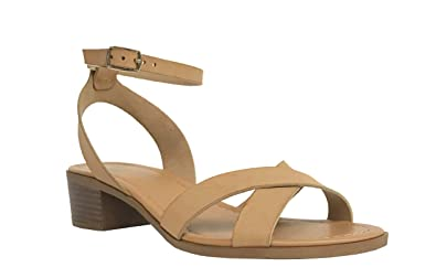 Image Unavailable. Image not available for. Color  City Classified WANKA!  Women s Crisscross Ankle Strap Mid Heel ...