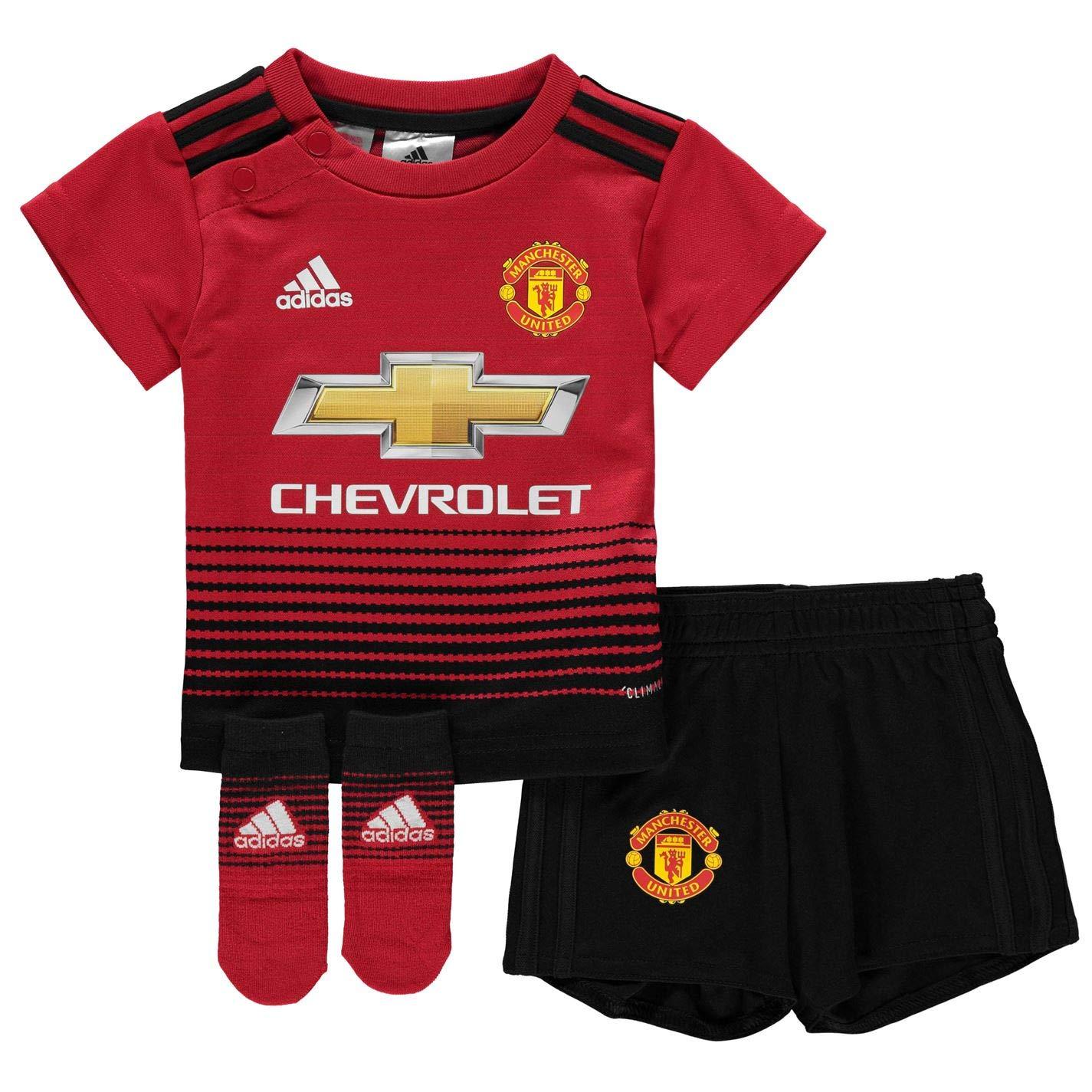 adidas Originals Unisex Baby Manchester United FC Home Mini Kit Home, CG0056