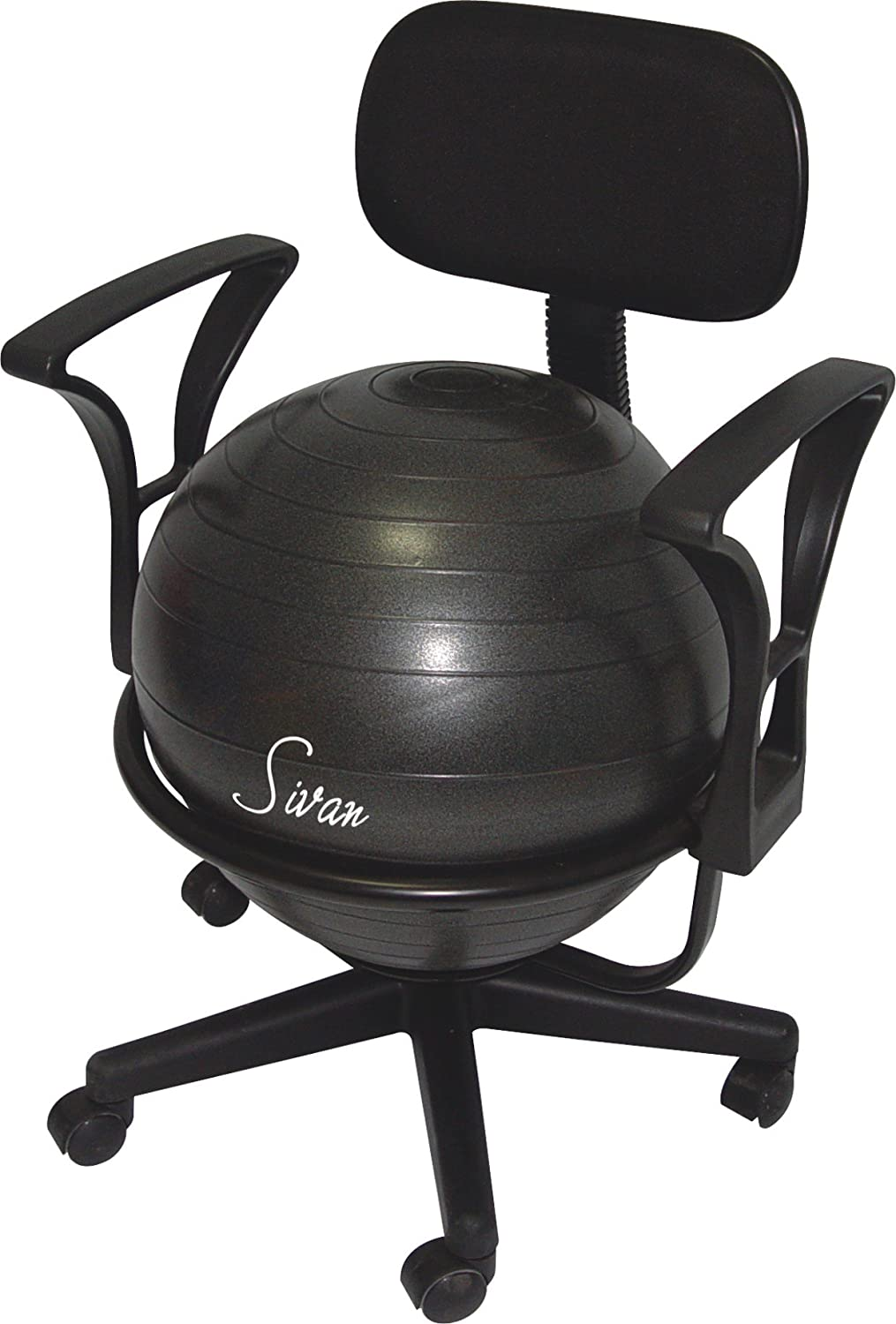 nice exercise ball chairs #1 - Amazon.com: Sivan Health and Fitness Arm Rest Balance Ball Low Fit Chair  with Ball and Pump: Health u0026 Personal Care