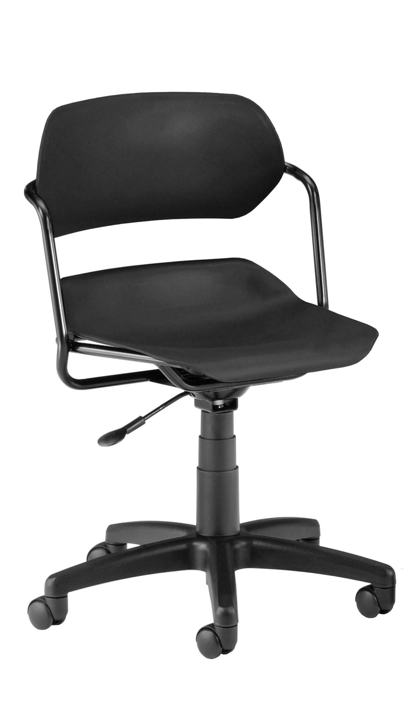 OFM 200-BLK-BLK Martisa Series Frame with Seat Plastic Task Chair, Black