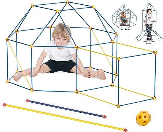 Kids Construction Fort Building Castles Tunnels Tents Kit DIY 3D Play House L6V4