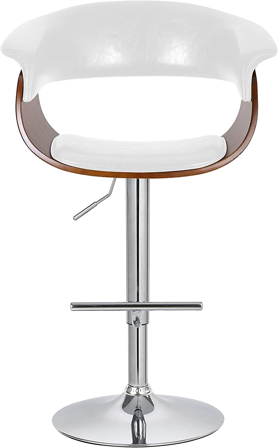 Porthos Home Adjustable Swivel Mansfield Barstool, White