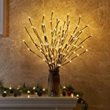 """EAMBRITE 3PK 30"""" Brown Wrapped Lighted Twig Stake"""