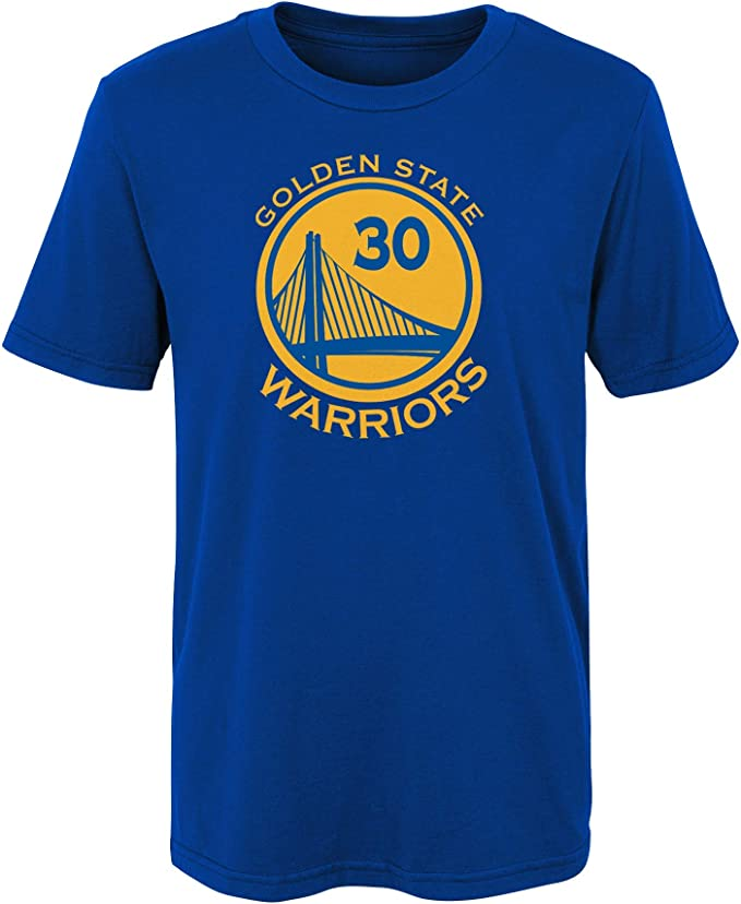 NBA Golden State Warriors-Stephen Curry Camisa de Deporte, Azul (Blue/Yellow Bly), 4 años para Niños: Amazon.es: Ropa y accesorios
