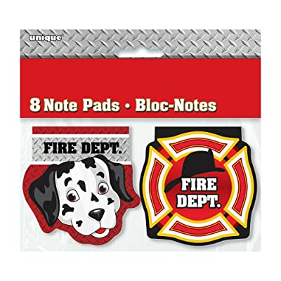 Fire Truck Birthday Notepad Party Favors, 8ct: Kitchen & Dining