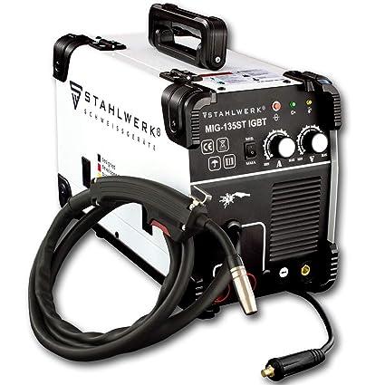 Acero de Mig 135 St IGBT - Mig Mag - Gas sudor dispositivo con 135 Amperio, Flux alambre ...