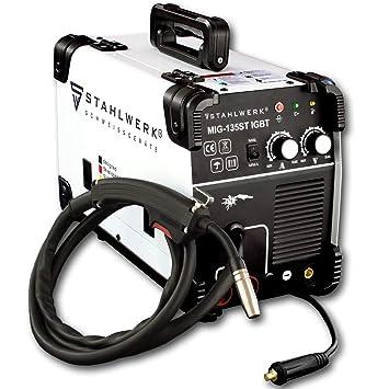 Außergewöhnlich STAHLWERK MIG 135 ST IGBT - MIG MAG Schutzgas Schweißgerät mit 135 @MB_19