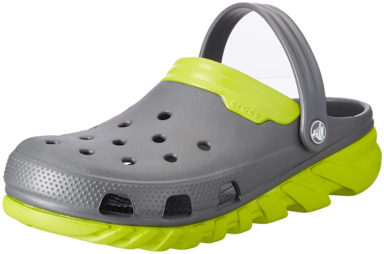Crocs Duet Sport Max - Zuecos de sintético para Hombre 45/46 EU|Grigio (Graphite/Volt Green)