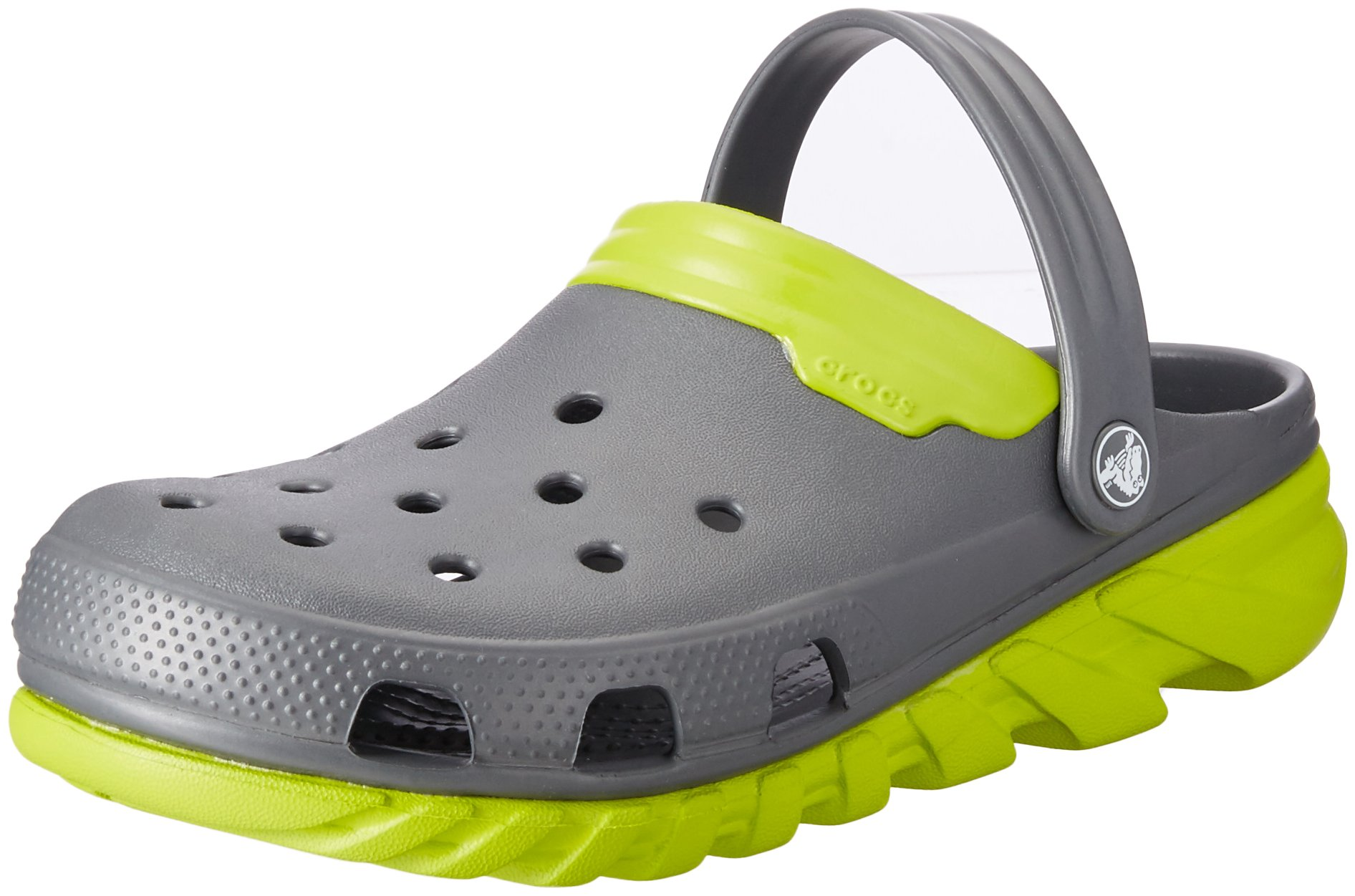 Crocs Unisex Duet Max Clog, Graphite/Volt Green, 11 M US Men / 13 M US Women by Crocs