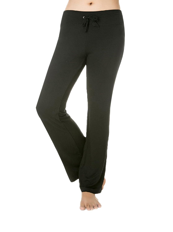 Women's Bootleg Pants Inner Pocket Black Large