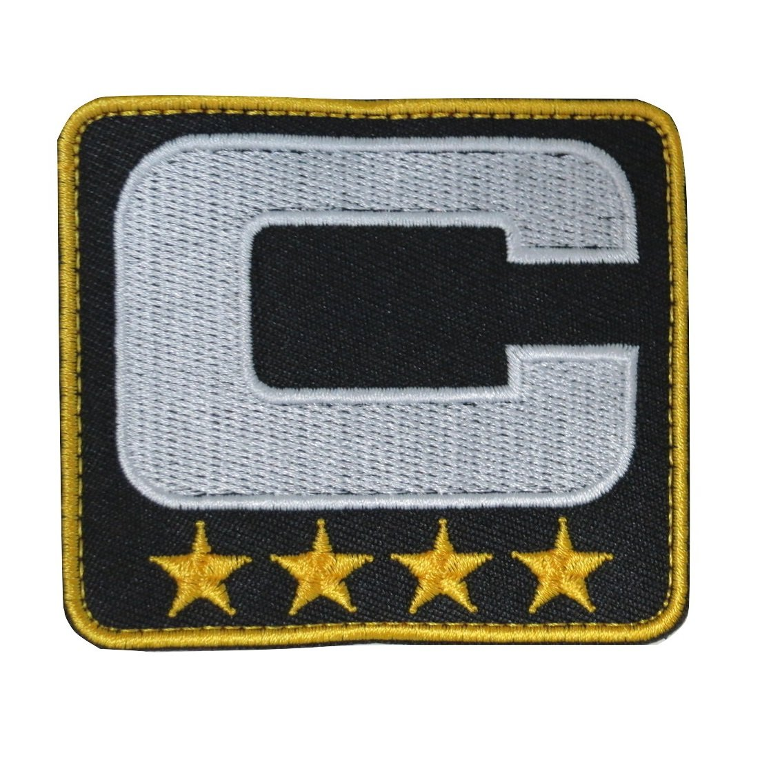 6224187e77005 Amazon.com: TrendyLuz Black Captain C Patch (4 Gold Stars ...