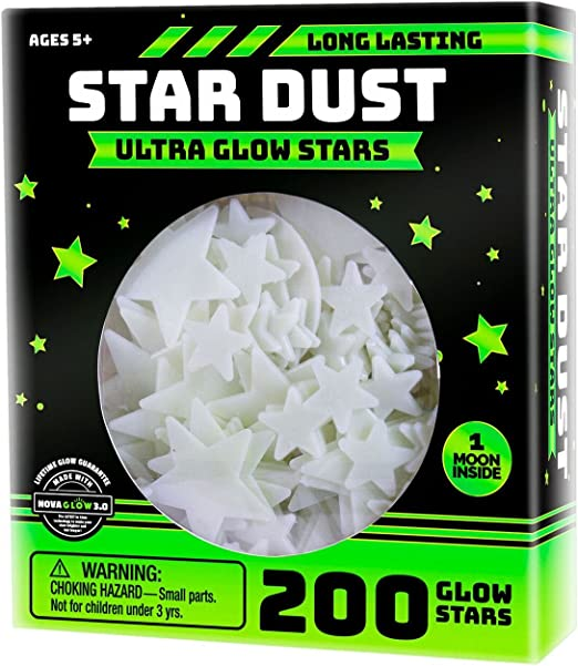 Ultra Brighter Glow in the Dark Stars; Special Deal 200 Count w// Bonus Moon.....