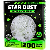 Ultra Brighter Glow in the Dark Stars; Special Deal 200 Count w/ Bonus Moon, Amazing for Children and Toddler Decorations Wal