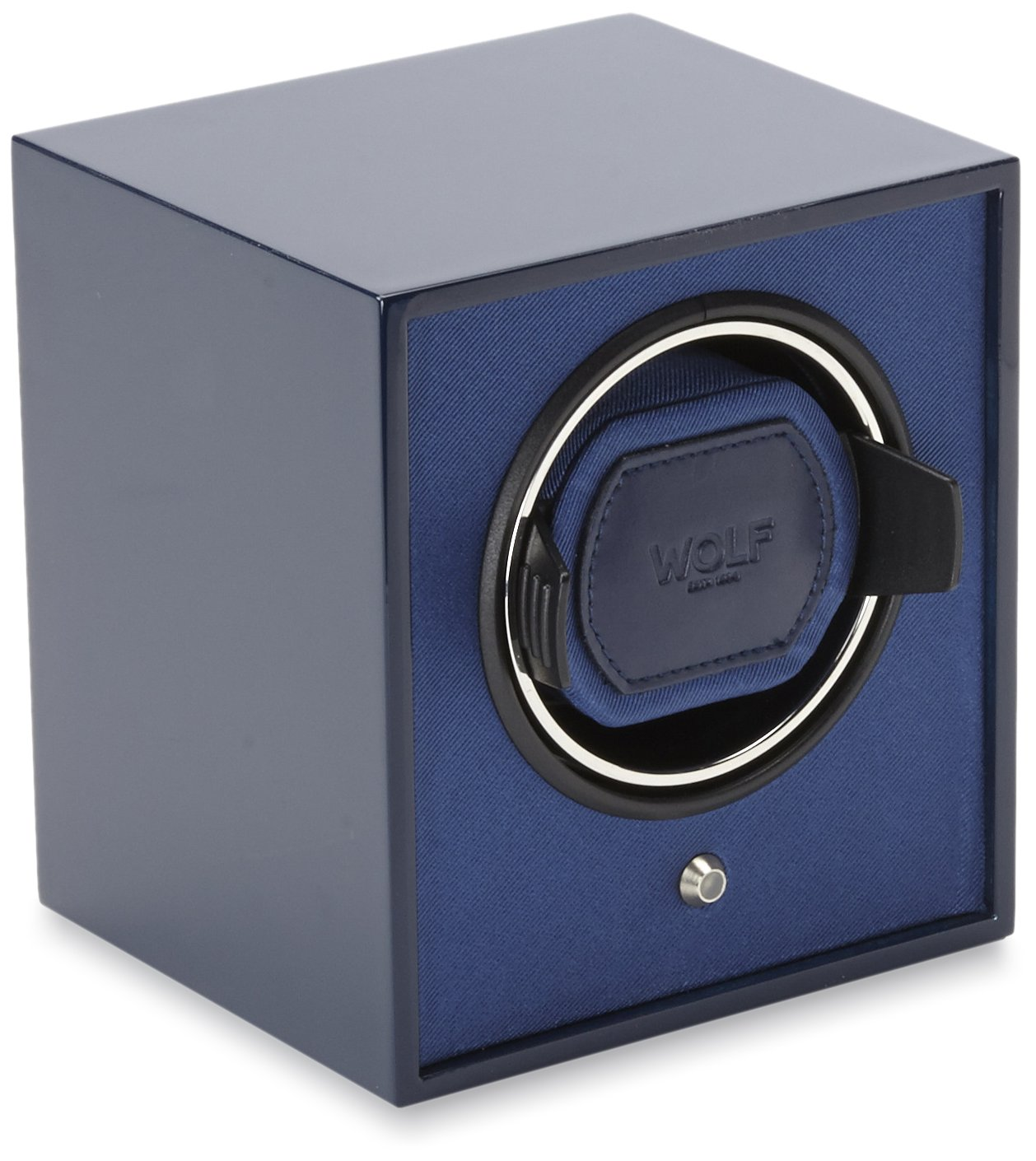 WOLF 460467 Lacquered Cub Single Watch Winder, Navy