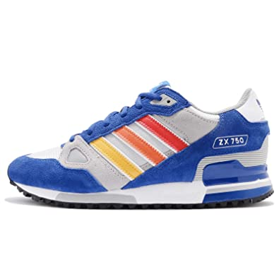 premium selection ad254 caeb1 adidas Men s ZX 750, Royal Red White Blue Size  3 UK