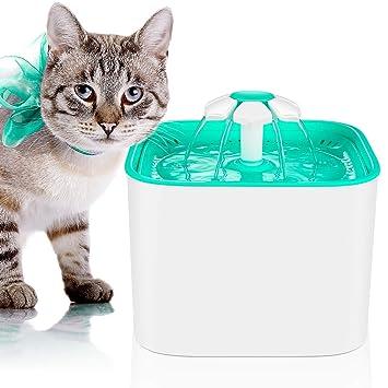 MVPOWER Fuente de agua para perros y gatos, dispensador automático de agua para mascotas con filtro de carbón activo: Amazon.es: Electrónica