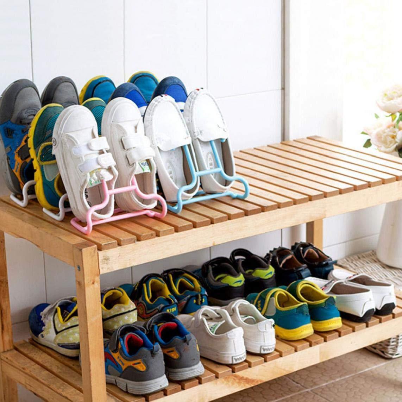 2pcs Pl/ástico Soportes De Las Zapatas De Ahorro De Espacio Stacker Zapato Y Colgantes Zapatero para Ni/ños