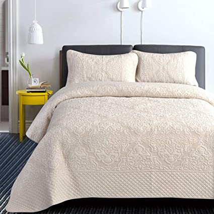Amazon Com Quilt Set King 3 Piece Quilt Bedding Set Ultra Soft