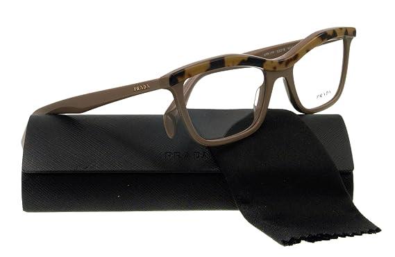 b15a7ec00df6 Amazon.com  PRADA Eyeglasses VPR 17P BROWN MA61O1 VPR17P  PRADA ...