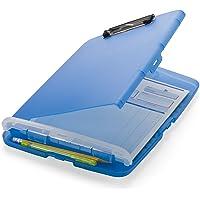 Officemate 83304 Slim Clipboard Storage Box, Translucent Blue