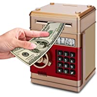 Asoner Cartoon Piggy Bank, Electronic ATM Password Cash Coin Can Auto  Scroll Paper Money Saving