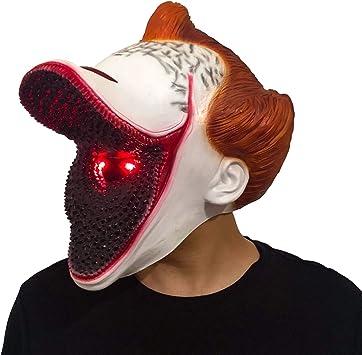 XUMING Es Pennywise Máscara Payaso, Disfraz de Halloween de Miedo ...