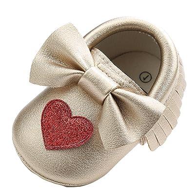 Jamicy Chaussures Premiers Pas pour Bébé (Fille) Blanc Silver Âge:3 Mois