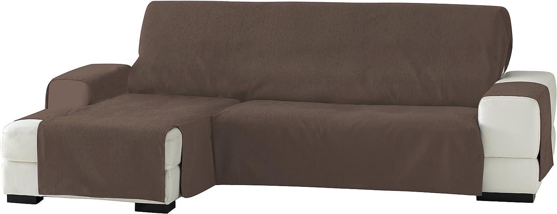 Eysa Zoco - Funda para chaise longue, izquierda, vista frontal, 240 cm, Marrón