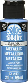 product image for FolkArt Metallic Acrylic Paint in Assorted Colors (2 oz), 670, Blue Pearl