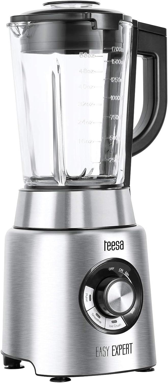 Teesa Tessa TSA3546 Easy Expert - Batidora de vaso (1200 W), color plateado: Amazon.es: Hogar