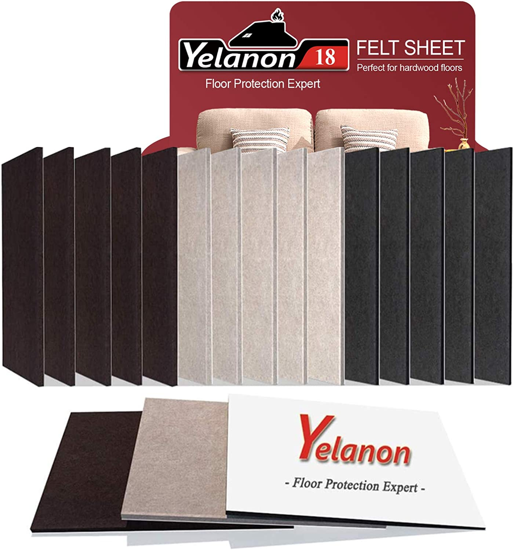 Yelanon Felt Furniture Pads 18 Pieces 8