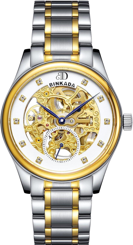 BINKADAスタイリッシュなself-motionホワイトダイヤルメンズ腕時計# 7001 a01 – 3 B00Y7GVKPM