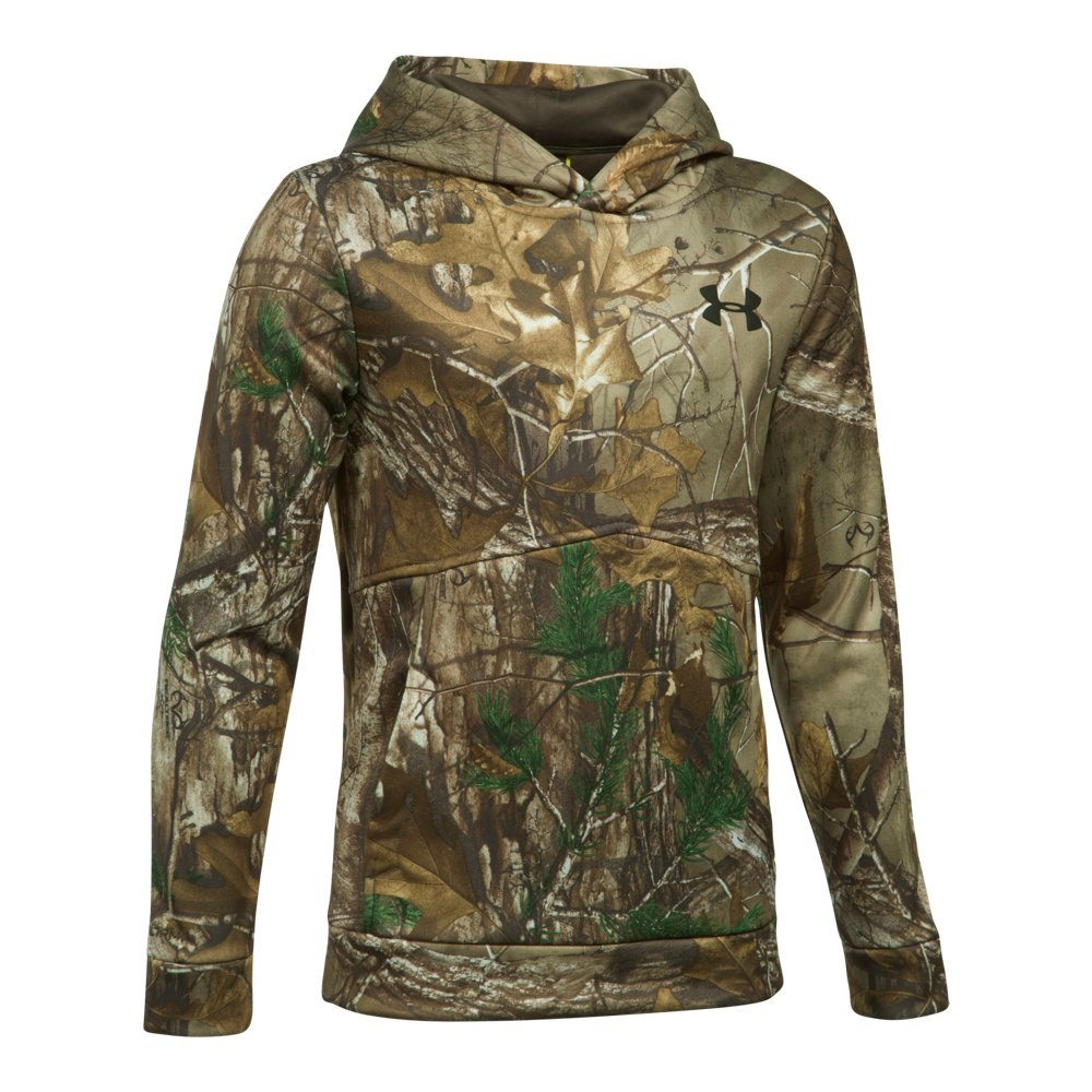 Under Armour Boys' Icon Camo Hoodie,Realtree Ap-Xtra (948)/Maverick Brown, Youth X-Small