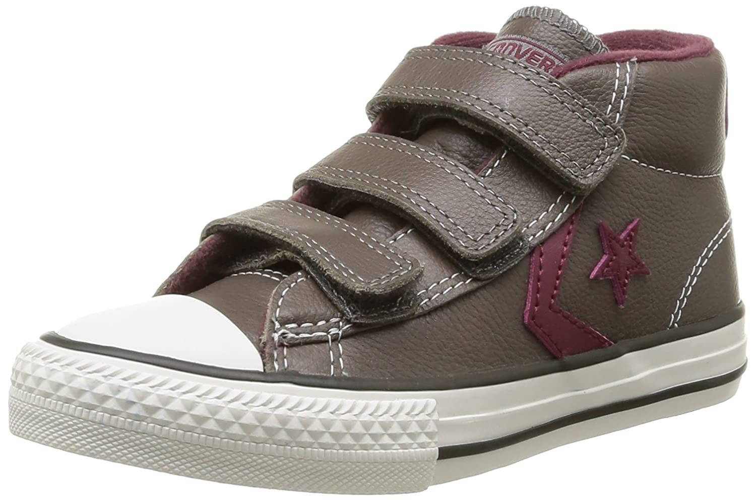 Converse Star Player V Leather Mid Zapatillas de Deporte de cuero Infantil