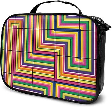 Elegante diseño sin Costuras de Azulejos en Viaje Multicolor Maquillaje Estuche de Tren Maquillaje Estuche cosmético Organizador Portátil: Amazon.es: Equipaje
