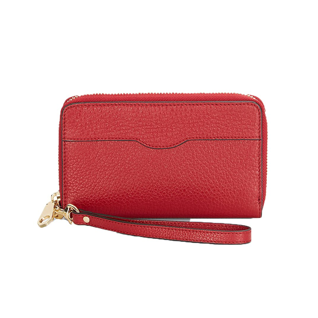 Rebecca Minkoff MAB iPhone 7 / 6 Leather Wristlet Wallet, Deep Red