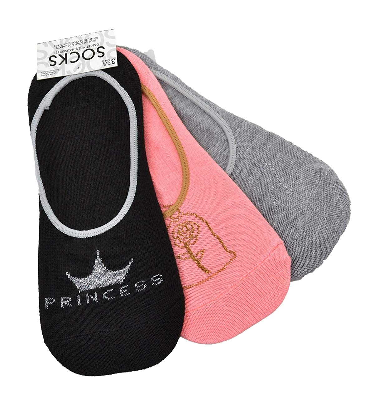 PLANET SOX DISNEY WOMENS 3-PK. PRINCESS PED SOCKS VALUE PACK at Amazon Womens Clothing store:
