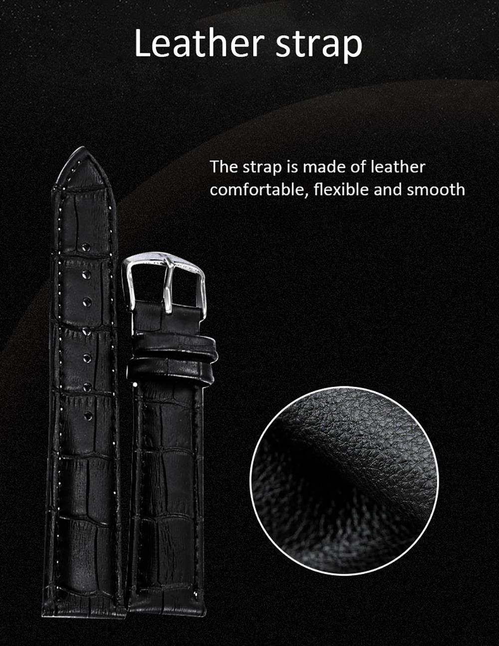 Armbandsur, mode multifunktion automatisk mekanisk klocka bälte kalender avslappnad herrklocka Silver Shell Silver Surface