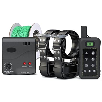Pet Control HQ Electric Dog Fence & Wireless Remote Dog Training Shock Collar, Waterproof & Rechargeable, Above Below Ground Hidden Safe Wire Fence Pet Containment up to 10 Acres