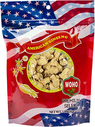 WOHO American Ginseng 111.8 Short Large Roots 8oz Bag