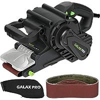 GALAX PRO Lijadora de Banda, 1010W Lijadora Eléctrica, 5 Lijas 76x533mm, 6 Velocidad 120…