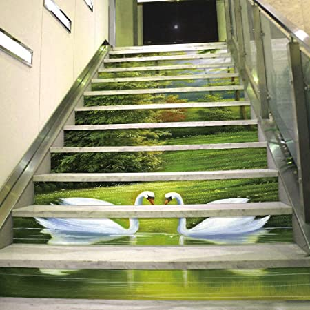 Joycaling Pegatinas de escaleras 3D Autoadhesivo Escalera Risers Pegatinas Vinilo Escalera Wallpaper Wallpaper Decoración del Hogar 12 unids Decoración de murales de Escalera extraíble: Amazon.es: Hogar