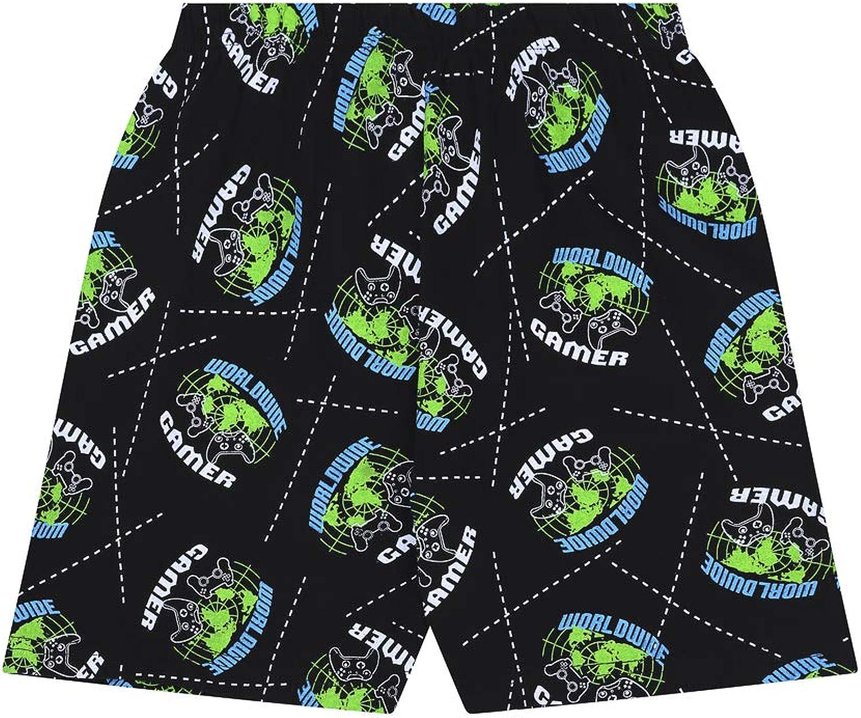 The PyjamaFactory Jungen Schlafanzug Schwarz Schwarz