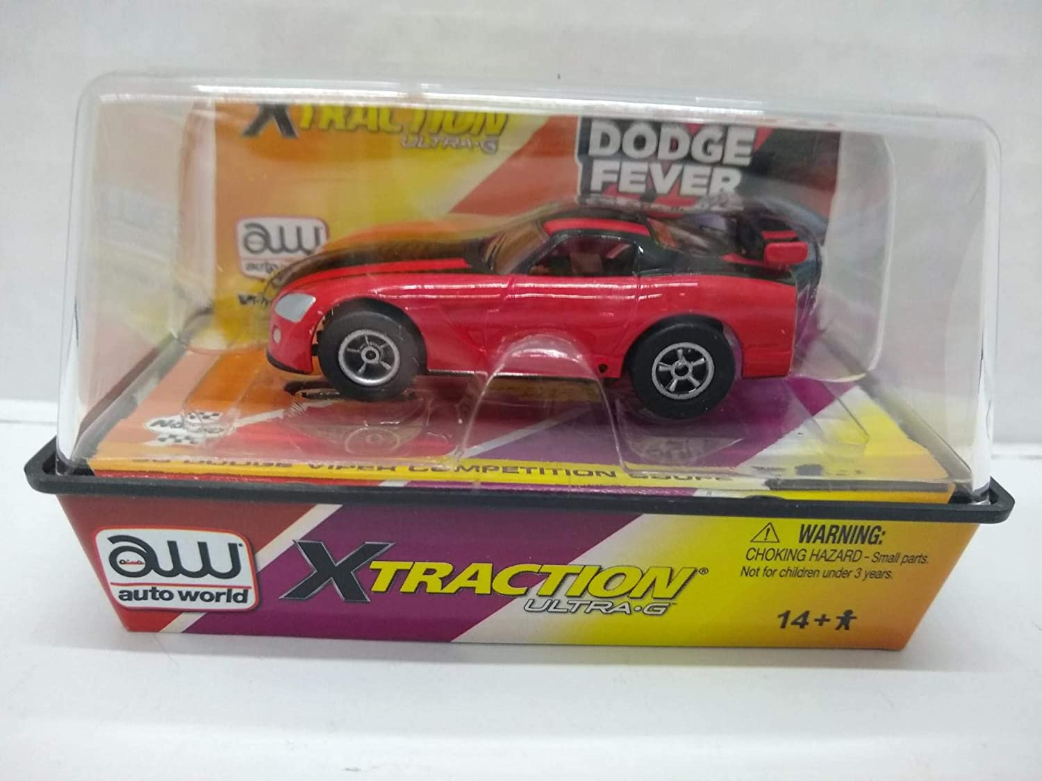 Red and Black Auto World SC231 2003 Viper Competition Coupe HO Scale Electric Slot Car